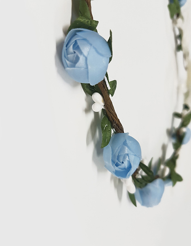 Rosa Floral Crown in Blue